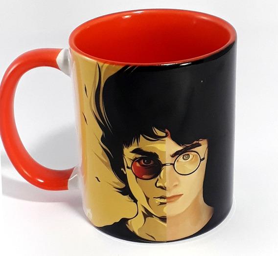 Caneca Harry Potter Porcelana Interior Colorido