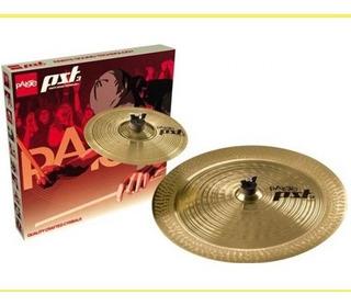 Platillos Splash/china 18 Paiste Serie Pst3 - Efx Pack 10/18