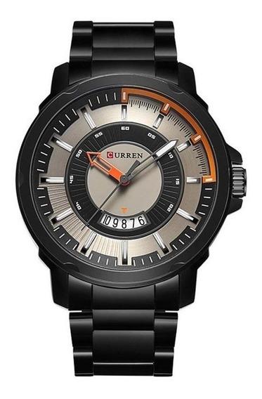 Relógio Masculino Curren Preto Original C/ Nf M8229 Oferta