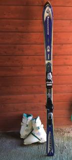 Ski Mujer Rossignol Con Fijaciones + Zapatos