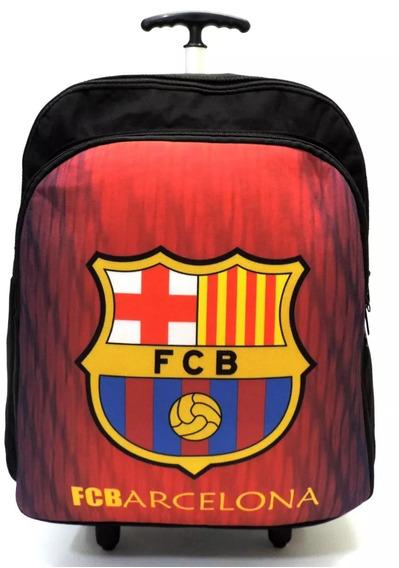 Mochila Juvenil Esportiva Nike Barcelona Rodinhas G Preta