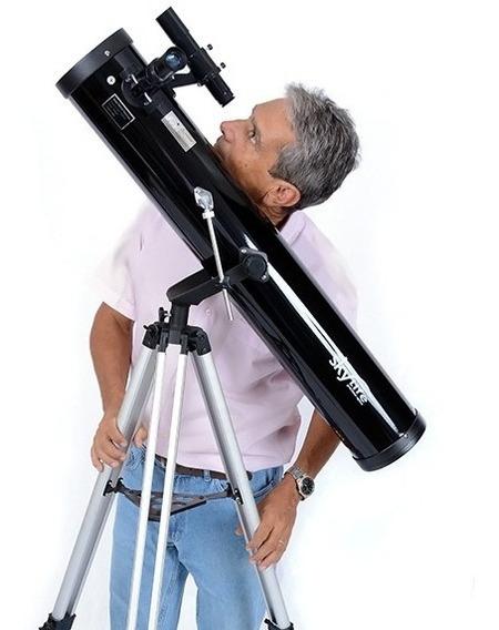 Telescópio Refletor 114mm Cygnus + Adaptador Celular + Ocular Ploss Skylife Marca Especialista Em Produtos Astronômicos