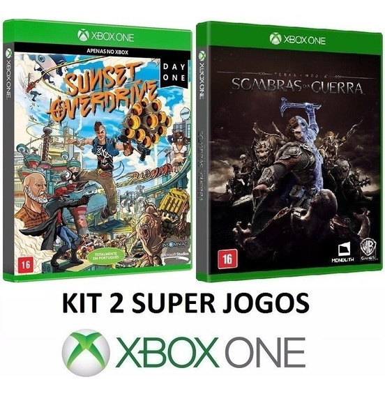 Shadow Of War + Sunset Overdrive - Midia Fisica - Xbox One