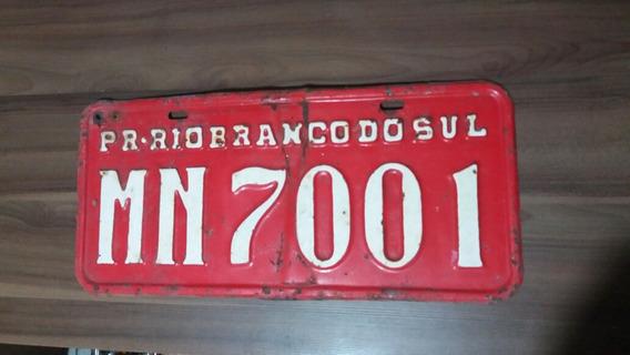 Placa Vermelha Aluguel Carro Caminhão Rio Branco Do Sul - Pr