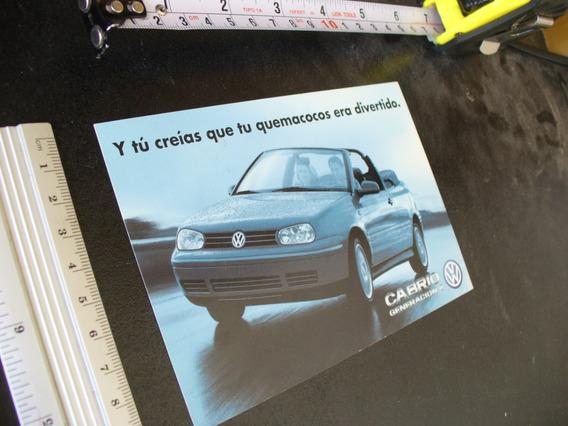 Publicidad Vw Cabrio Autos Revista Vintage Retro 2000