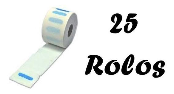 25 Rolo Gola Higiênica Profissional - Protetor Pescoço Descartável - Profissional Salão De Beleza - Barbearia - Atacado