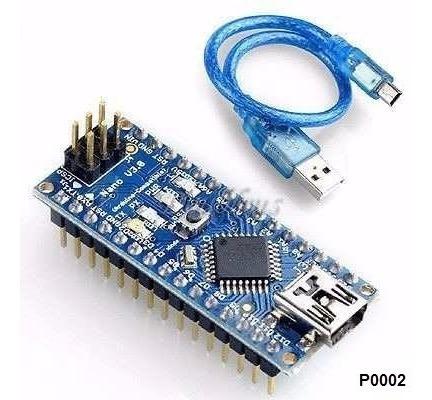 Arduino Nano V3 Atmega 328 E Cabo Usb Robótica Atmega328