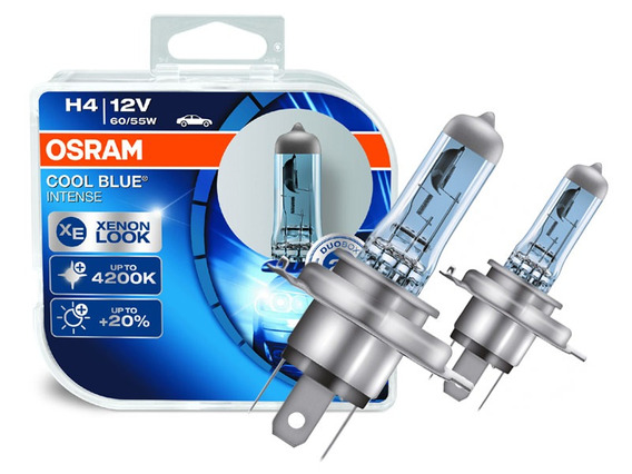 Lâmpada Osram Cool Blue H4 Super Branca 4200k 55/60w Xenon