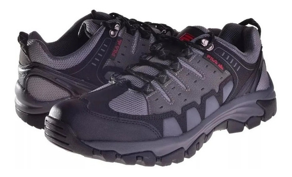 Zapatillas Fila Black Rock Hombre Outdoor Trekking Original