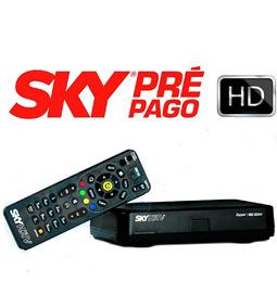 Receptor Sky Pré Pago Flex Hd + Chave + Lnbf Duplo