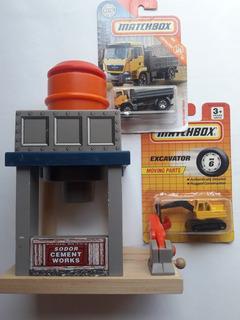 Hot Wheels Matchbox Lote Construccion Diorama Escala 1/64