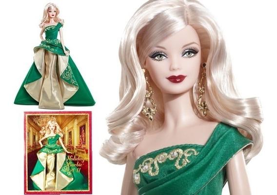 Barbie Collector Nova Holiday 2011 Vestido Verde Dourado