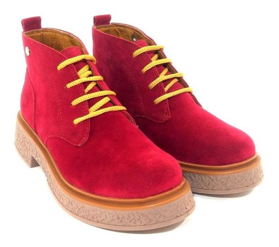 Bota Borcego Mujer Gamuza Savage Art Sp280 Zona Zapatos
