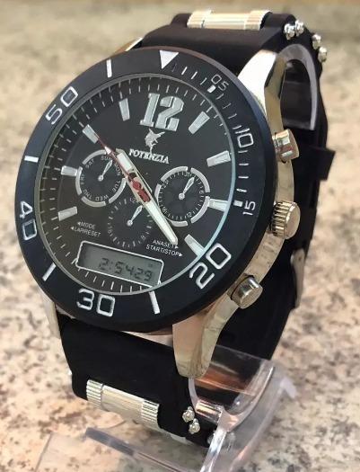 Relógio Militar Esportivo Masculino Cronometro Potenzia