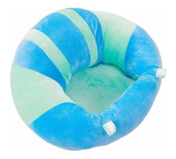 Almofada Para Bebê Sofá Aprender A Sentar Azul
