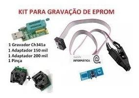 Gravador Ch341a + Alicate Pinça +200mil +150mil+cabo Agulha
