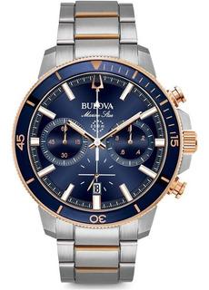 Reloj Hombre Bulova 98b301 Crono Marine Star Ag Oficial C