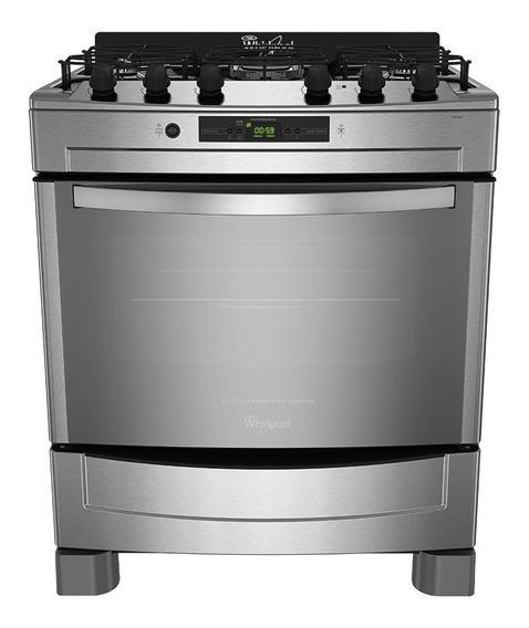 Cocina Whirlpool WF876XG 5 gas natural acero inoxidable 220V puerta visor 103L