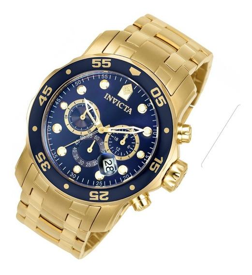 Relógio Invicta Original 0073 21923 Dourado B. Ouro 18k