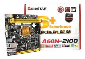 Placa Mãe A68n-2100 + Processador Amd Apu E1-2100 Dual-core