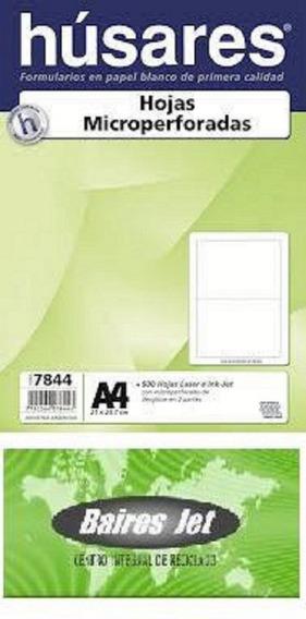 Formulario Husares 7844 Microperforado Al Medio 500 Hojas