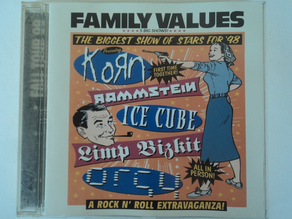 Cd-family Values:show 98-korn,ice Cube,rammstein,limp Bizkit