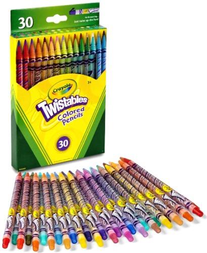 Lapis De Cor Crayola 30 Cores Twistables Não Precisa Apontar