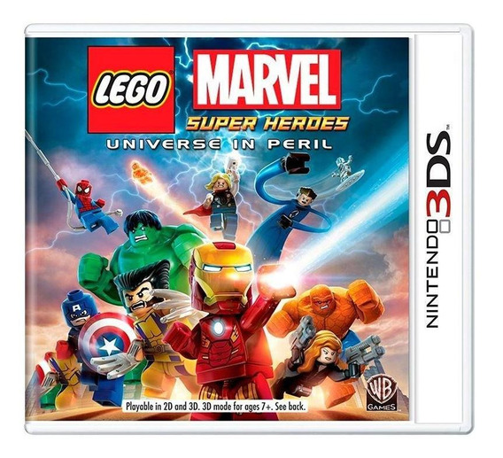Lego Marvel Super Heroes Universe In Peril 3ds Mídia Física