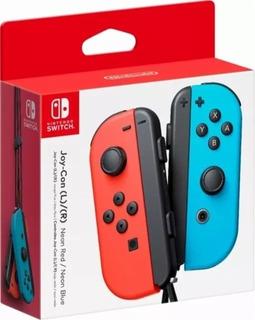 Nintendo Joy-con Neon Vermelho E Azul