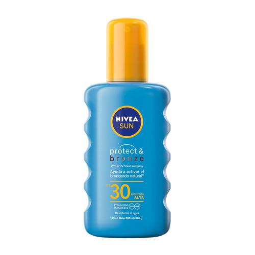 Protector solar Nivea Sun Protect & Bronze spray resistente al agua FPS30 x 200ml