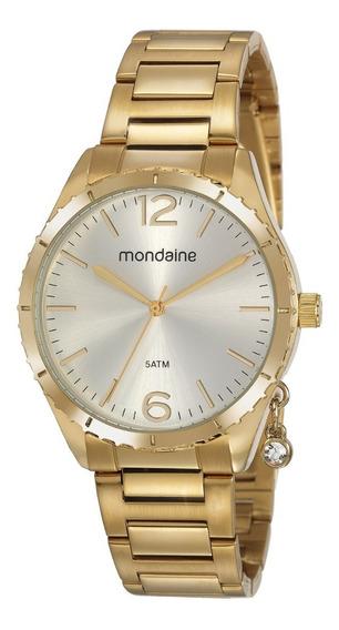 Relógio Mondaine Feminino Analógico Dourado 53757lpmvde1