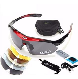 Óculos Bicicleta Ciclismo Bike Polarizado 5 Lentes N Fiscal