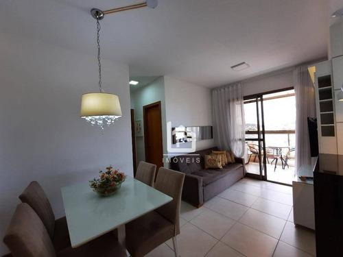 Apartamento Com 2 Dormitórios À Venda, 65 M² Por R$ 360.000,00 - Praia De Itaparica - Vila Velha/es - Ap0411