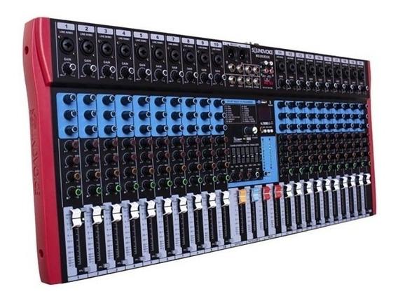 Mesa De Som 20 Canais Combo Ms202 Eux Usb Bluetooth Efeitos