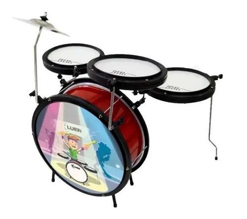 Imagem 1 de 4 de Bateria Infantil Completa Luen Smart Drum Vermelho - Oferta