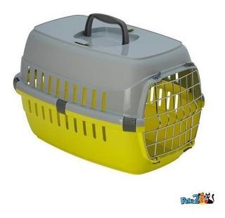 Transportadora Para Perro Con Puerta De Metal - Med Pelu2