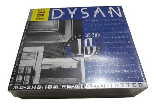 Caja De Discos 5 1/4  Dysan Md-2hd Nuevo Y Sellado Reliquia