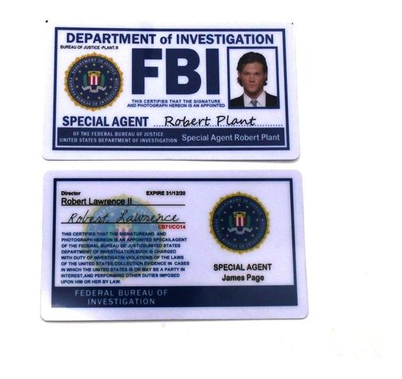 Titular Do Cartão Da Polícia Da Coleção Do Fbi Cosplay