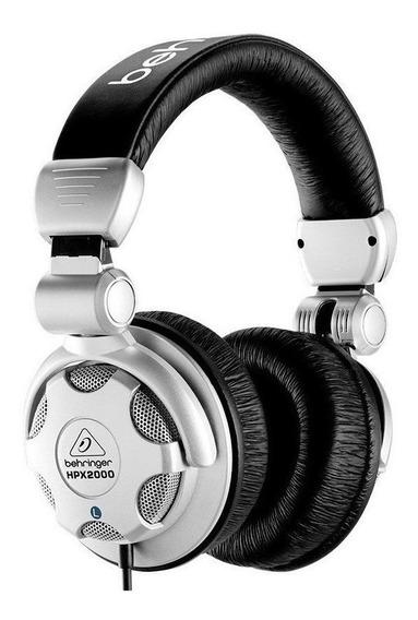 Fone de ouvido Behringer HPX2000 preto e prata