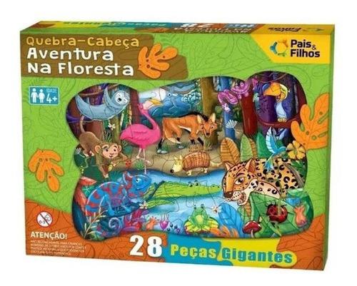 Imagem 1 de 4 de Jogo Quebra Cabeça 28pç Gigante Aventura Na Floresta Premium