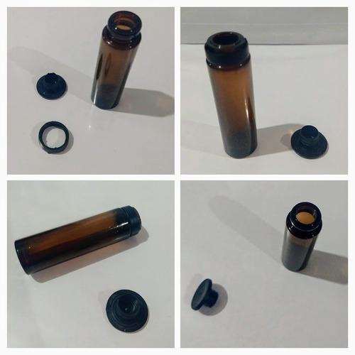 Imagen 1 de 4 de Envase Pet 10 Ml Muestras, Aceites, (x5) Ámbar Tapa Precinto