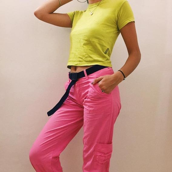 Ropa Vintage Pantalon Con Bolsillos A Los Costados