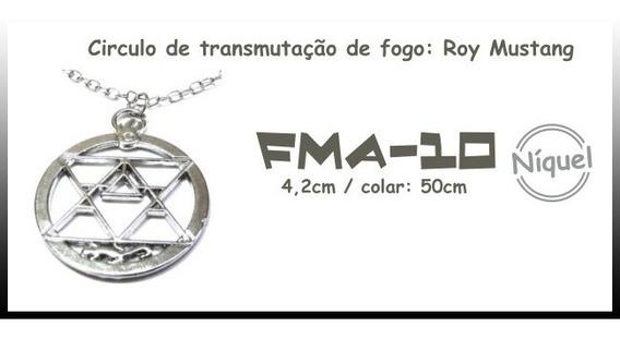 Colar Circulo De Transmutação De Fogo: Roy Mustang