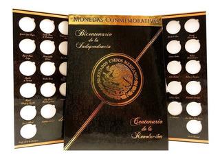 Album Monedas 5 Pesos Independencia Revolucion Escudo Full
