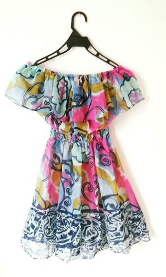 Vestido Strapless De Gasa Algodon - Adaptable
