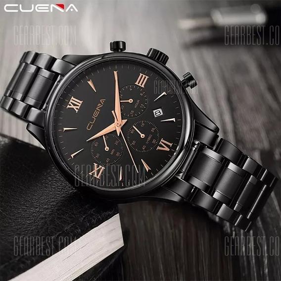 Relógio Cuena 6802g Aço Inoxidável Original Importado