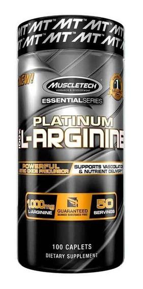 L Arginina Muscletech Platinum 100 Tabs (1000 Mg)