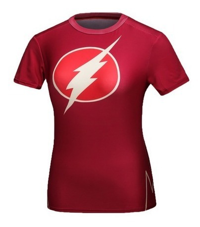 Playera Flash Dama Crossfit Gym Running Cosplay Dc Comics