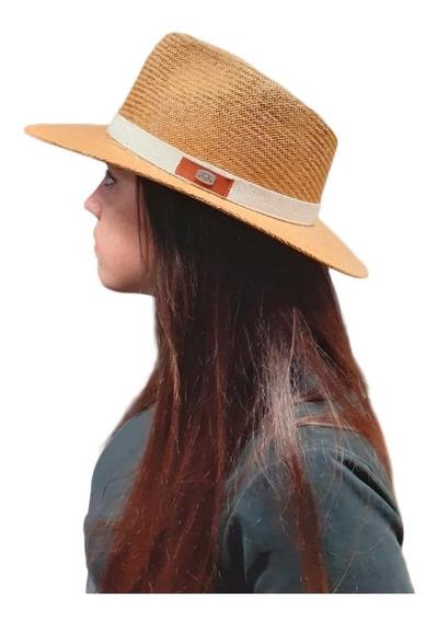 Sombrero Lagomarsino Rafia Italiana Tipo Panama Hombre Dama