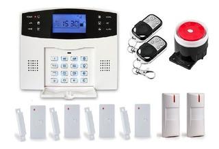 Alarma Dual Paquete C/6 Sensores Pstn-gsm Casa-negocio